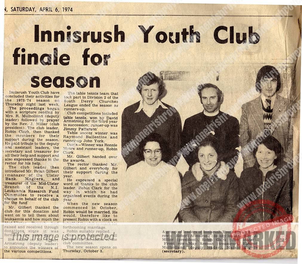 Innisrush Youth Club Finale, 1974