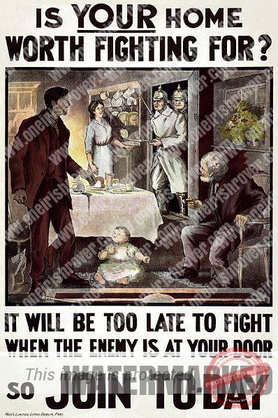 Great War Recruitment Poster Ireland