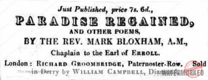 Rev Mark Bloxham Paradise Regained and other poems