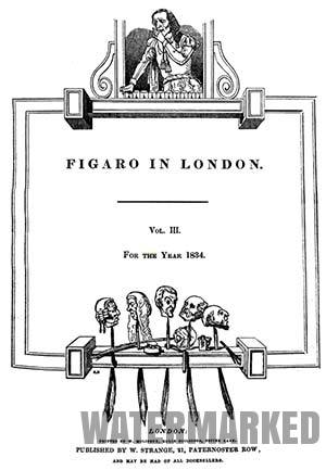 review magazine Figaro in London 1834