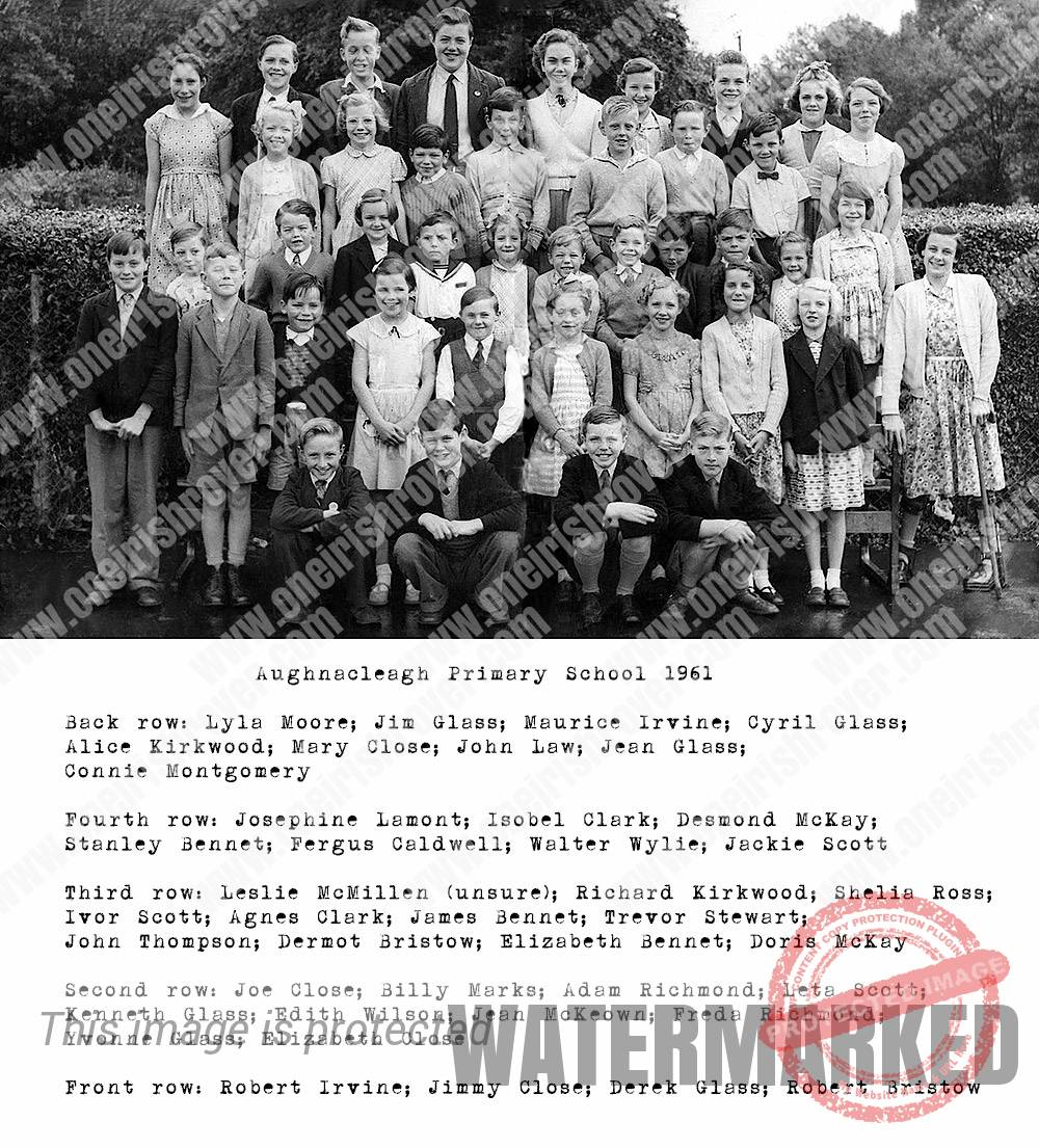 Aughnacleagh Primary School Photograph from 1961