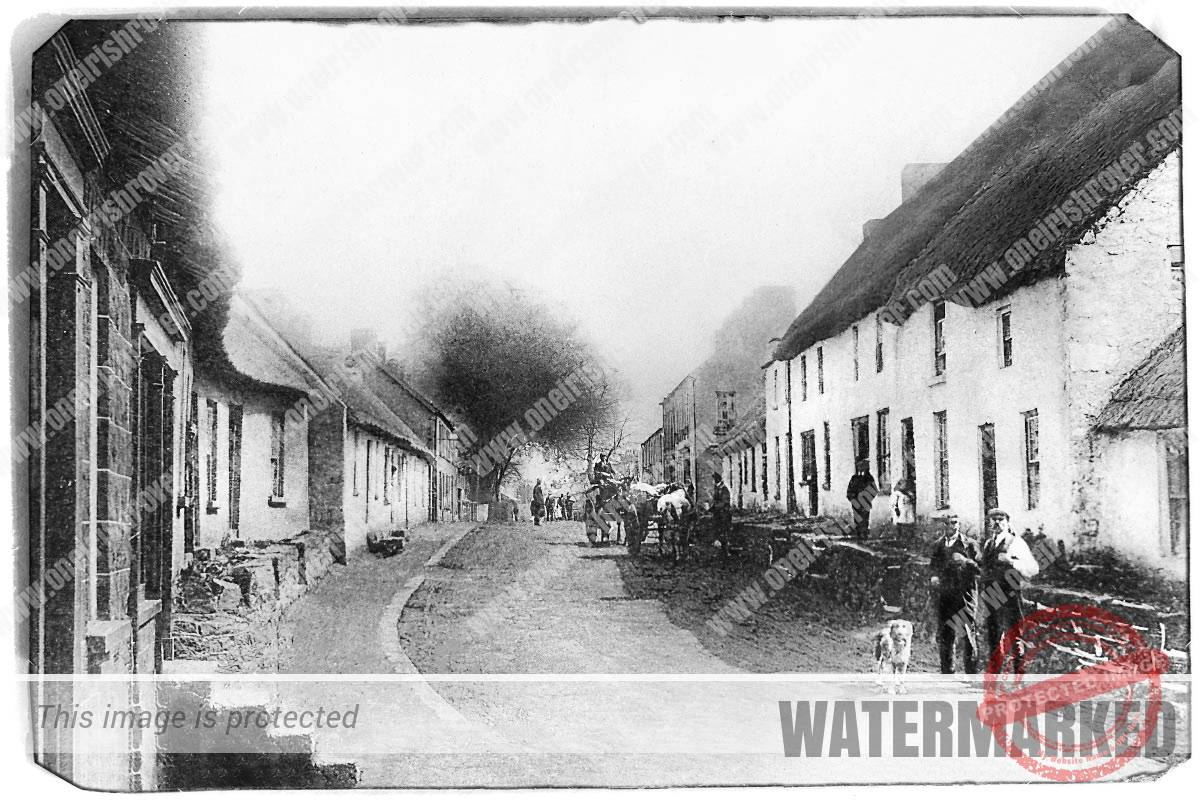 Cullybackey - an old post card of the County Antrim village