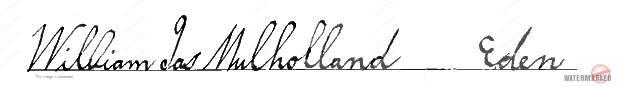 Signature William James Mulholland