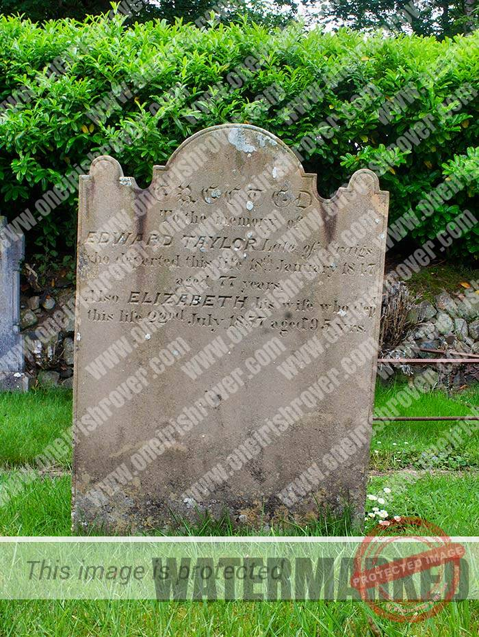 Edward Taylor headstone at Craigs Cullybackey
