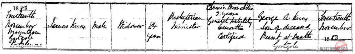 presbyterian minister james knox 1883