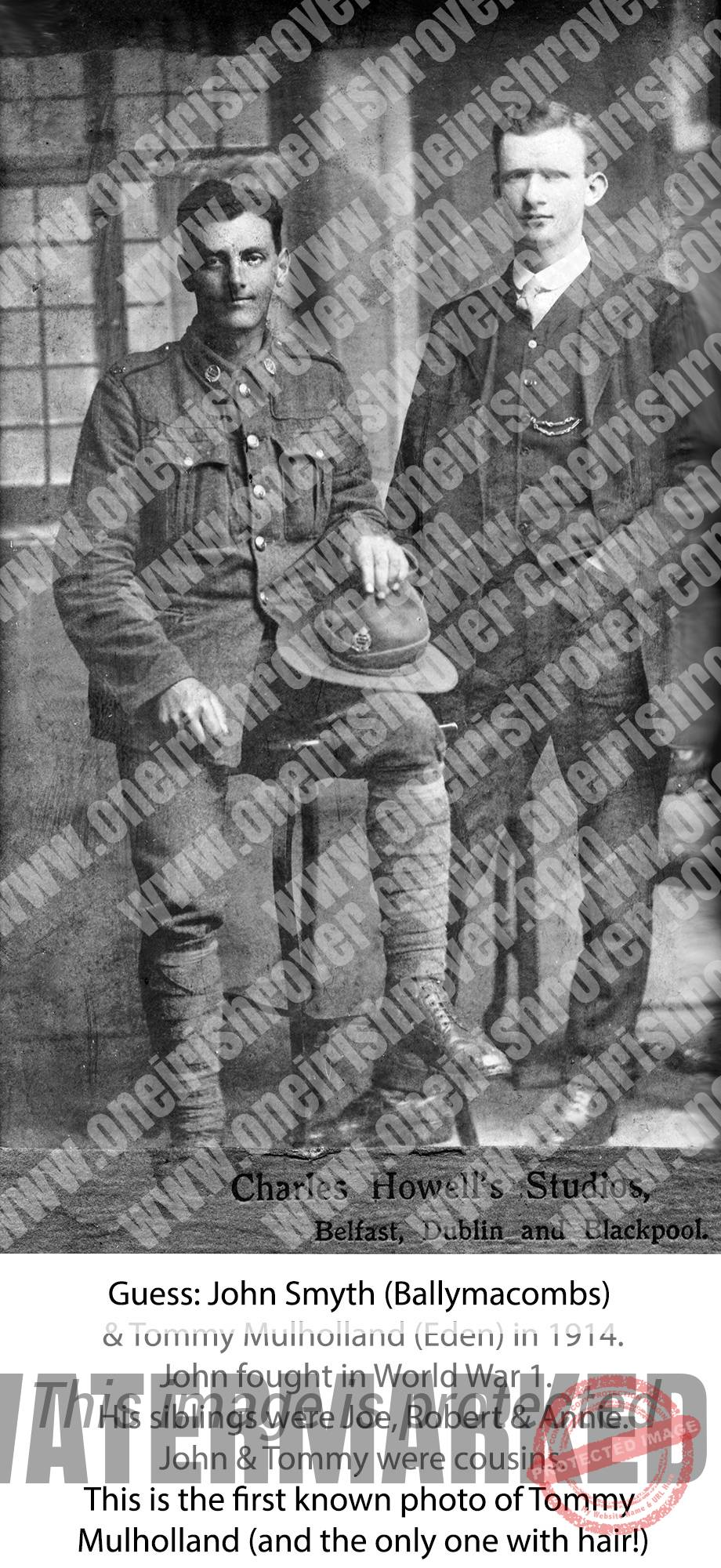 Eden Portglenone WW1 Tommy Mulholland & John Smyth