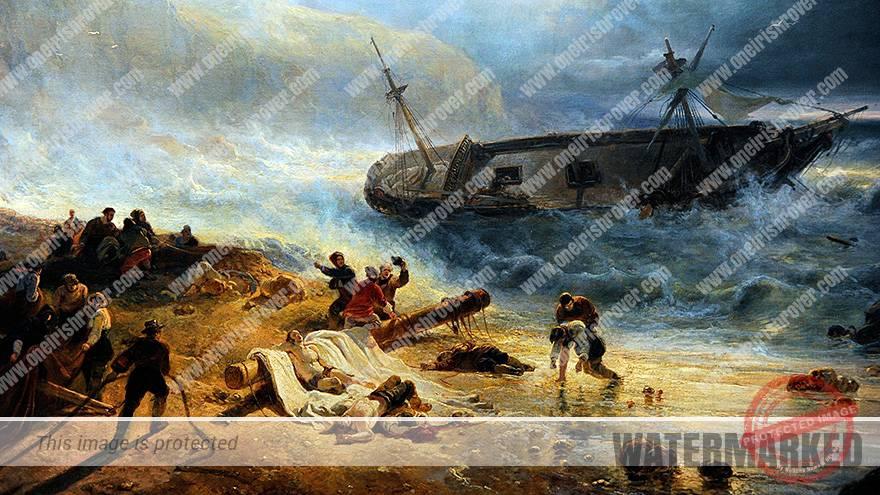 night of the big wind in Ireland 1839