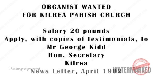 St Patricks Kilrea organist